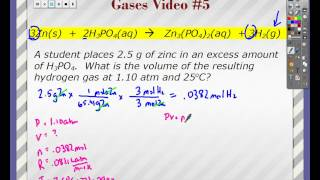 Gases Video #5 - Gas Stoichiometry