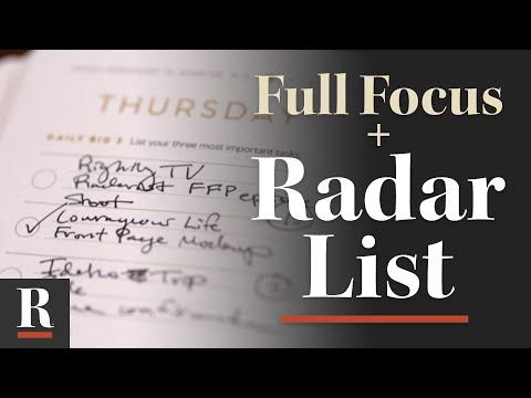 Using Radar.ist with the Full Focus Planner