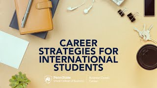 Career Strategies for International Students