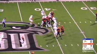 October 12, 2018 Tahlequah Tigers vs. Pryor Tigers