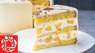 Все, кто пробовал этот торт, просят рецепт! 🍰🍰🍰 Обалденный Торт с Персиками!