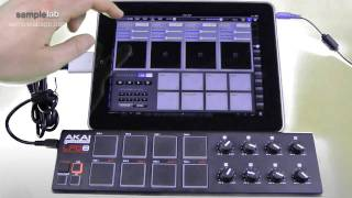 iPad + Sample Lab + Akai LPD8