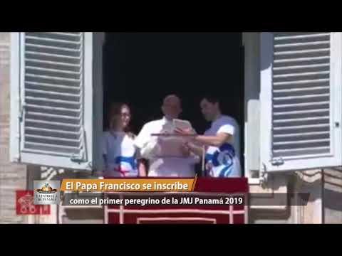 El papa se inscribió en directo con una tableta a la JMJ de Panamá