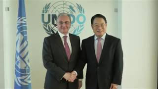 Встреча Министра иностранных дел Зограба Мнацаканяна и Генерального директора Организации Объединенных Наций по промышленному развитию Ли Йонга