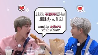 서로를 귀여워하는 RM과 JIN🥰 / namjin adore each other🥰