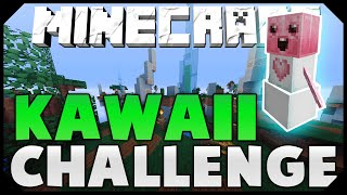 THE KAWAII TEXTURE PACK CHALLENGE + TWO HACKERS! ( Hypixel Skywars )