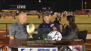 Aransas Pass vs. Rio Hondo Coaches Interview - FNF