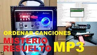 Misterio Resuelto. Ordenar canciones en reproductor MP3, USB, Bluetooth, Música