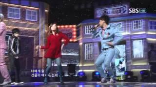 GD&TOP - Don't go home (지디앤탑-집에가지마) @SBS Inkigayo 인기가요 20110130