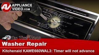 Washer Timer Will Not Advance - KitchenAid, Whirlpool & Roper - Repair & Diagnostic