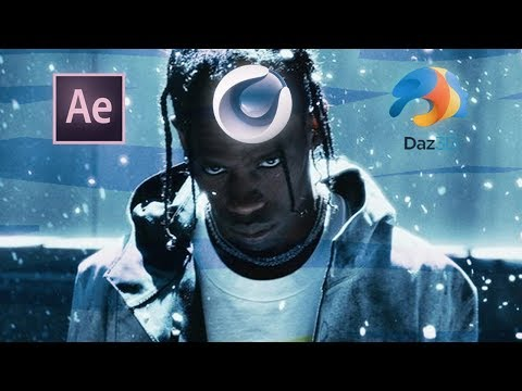 Travis Scott – Astroworld Trailer FULL TUTORIAL ( After Effects , Cinema 4d, Daz )