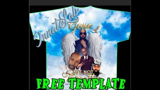 24 Hour Special! Free Memorial Template INSTRUCTIONS remembrance-shirt clouds sky All-Over 3D