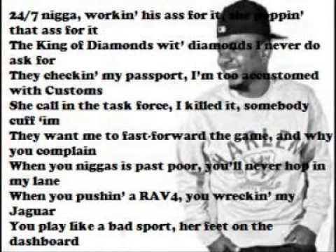 Kendrick Lamar - Hol Up (Lyrics on Screen)