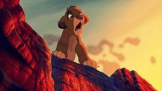 "THE LION KING (1994) Scene: ""Run away...""/Simba escapes."