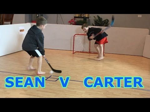 Kids HocKey Epic Knee Hockey Sean J v C Banks