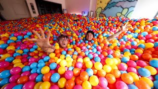 We Bought 100,000 Balls & Turned Our House Into a GIANT Ball Pit