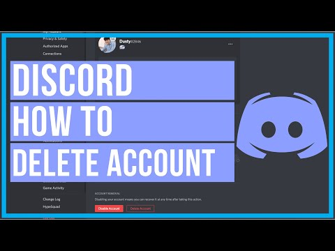 Discord - How To Delete Account (PC and Mobile)