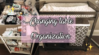 CHANGING TABLE ORGANIZATION ON LIMITED SPACE | BABYS SET UP IN OUR ROOM | Ally Elaine