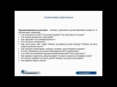 Адаптация персонала в организации: виды, методы, результаты