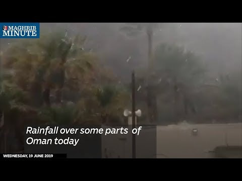 Rainfall over some parts of Oman today