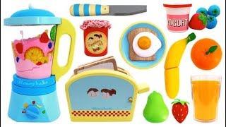 Toy Blender & Toaster Playset Pretend Play Learn Colors & Fruits