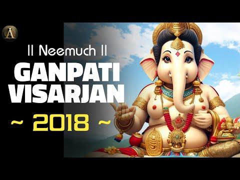 Neemuch : Ganpati Visarjan 2018 | Aryansh Parivar Neemuch Full Visarjan | Anivesh maurya