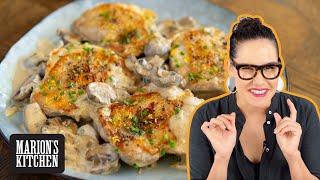 The CREAMIEST Creamy Garlic & Mushroom Chicken...without the dairy cream! | Marion's Kitchen