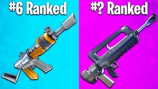 RANKING EVERY ASSAULT RIFLE IN FORTNITE FROM WORST TO BEST (gold burst vs scar)