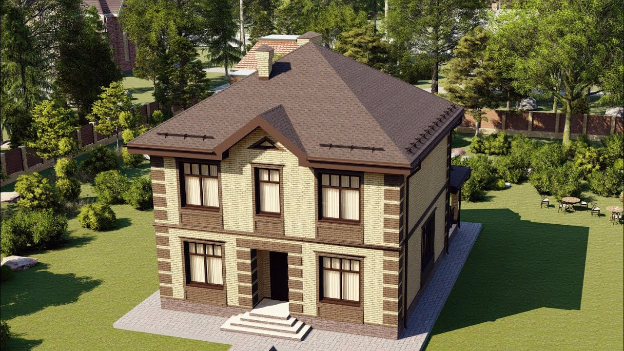 Проект дома 139-B, Площадь дома: 139 м2, Размер дома:  10,2x11 м