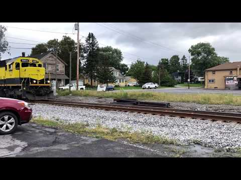 Watch the train ride the rails at Woodford Bros., Inc. Apulia Station, NY