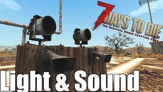 7 Days to Die - Light  Sound  Heat Map - Does it Attract Zombies? (Alpha 16)