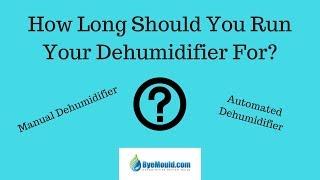 How Long Should You Run Your Dehumidifier For ? Byemould