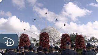 U.S. Navy Blue Angels Perform Spectacular Flyovers at Epcot