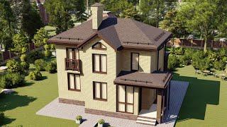 Проект дома 116-А, Площадь дома: 116 м2, Размер дома:  10,4х9,7 м