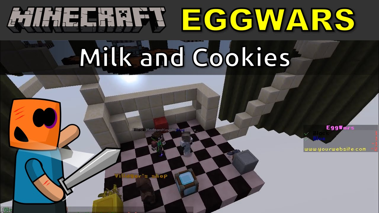 Minecraft PVP EggWars, Milk and Cookies