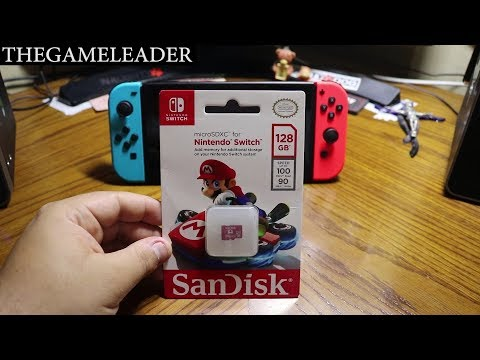 Nintendo Switch [San Disk Micro SDXC Card 128GB] - Unboxing & Review