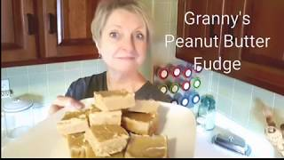 easy peanut butter fudge with condensed milk