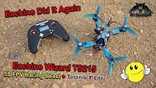 Eachine Wizard TS215 FPV Racing Drone F4 5.8G 72CH RunCam Swift 2 Frsky Taranis X-Lite XM+ RTF