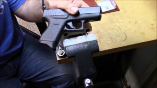 Trick for removing Glock 43 magazine plate and installing Pearce grip extension