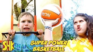 SUPER POWER BASKETBALL Trick Shot Master!