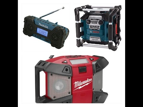 RADIOS BOSCH, MILWAUKEE y MAKITA