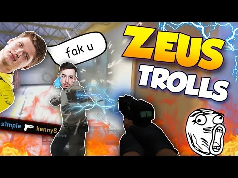 CS:GO - WHEN PROS TROLL WITH THE ZEUS! ft  s1mple