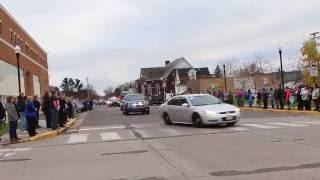 Procession for Deputy Dan Glaze in Ladysmith