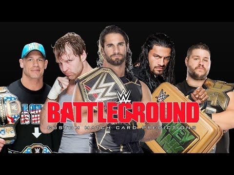WWE Battleground 2015 vs 2016 HD