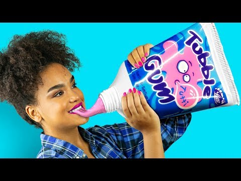 DIY Giant Candy vs Miniature Candy / Funny Pranks!  HD Mp4 3GP Video and MP3