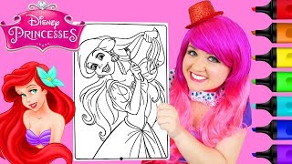 Coloring Princess Ariel The Little Mermaid Coloring Page Prismacolor Markers   KiMMi THE CLOWN