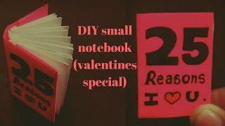 Diy Mini Notebook | Diy Valentines Day Gift Idea | Diy Valentines Day Card|handmade Valentines Card