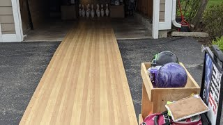 A Homemade Bowling Lane | Let's Throw A Shot LOL