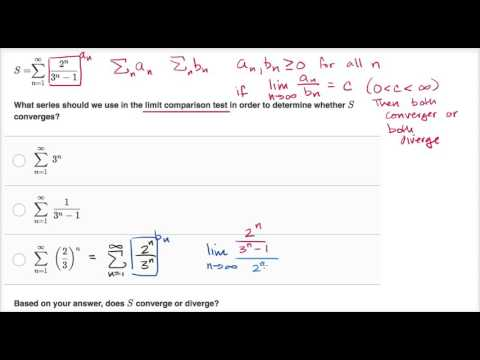 Worked example: limit comparison test (video) | Khan Academy