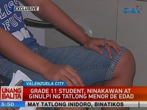 [GMA]  UB: Grade 11 student, ninakawan at ginulpi ng 3 menor de edad sa Valenzuela City